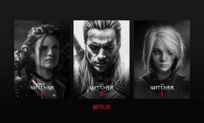 the witcher set photos netflix cast