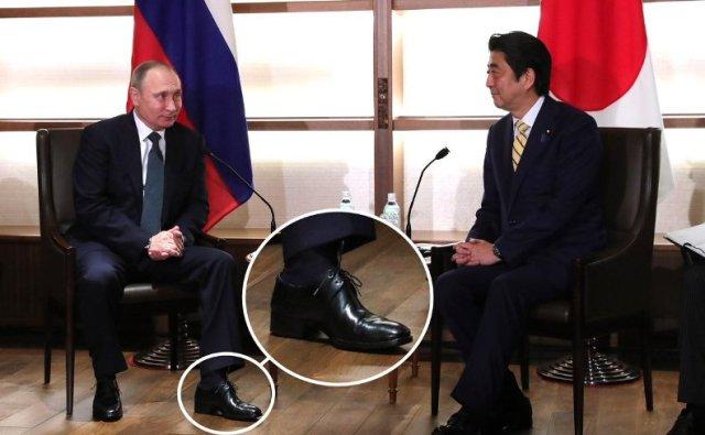 Каблуки не помогли: сеть высмеяла уловку карлика Путина - оно меньше даже японцев