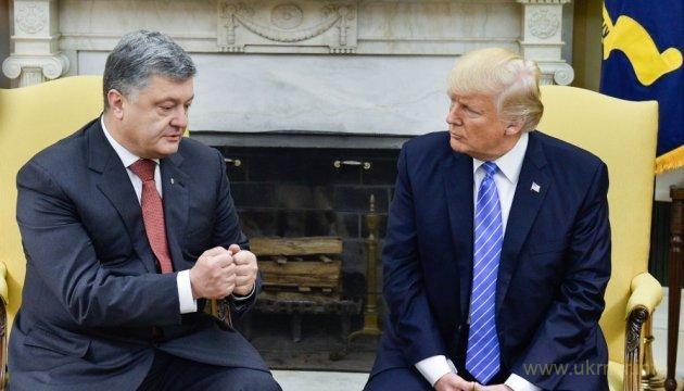 Трамп о большом прогрессе с Порошенко и за расширение военного сотрудничества с Украиной