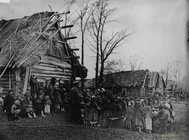 Народная столовая в одном из сел, пострадавших от голода