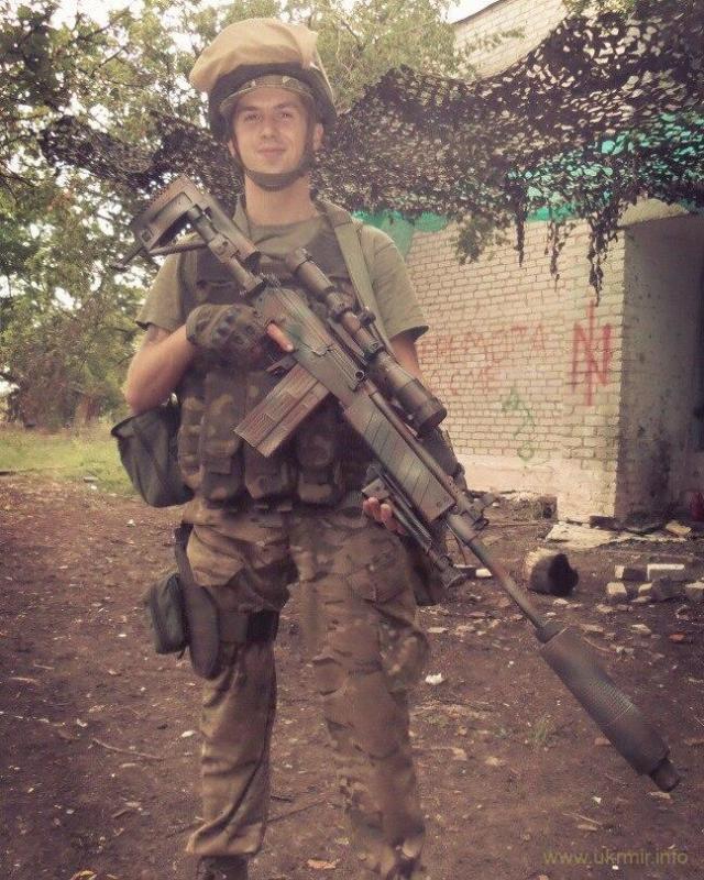 Снайперская винтовка «Форт-301» в руках бойца НГУ на фронте