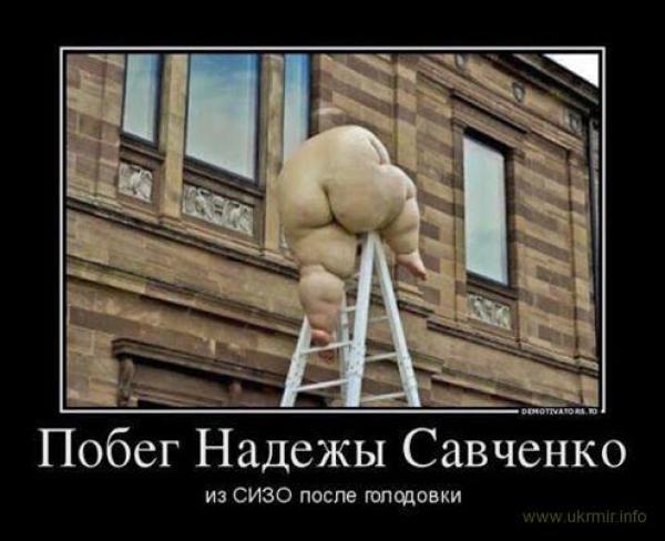 Побег Н. Савченко из СИЗО после голодовки (эксклюзивное фото)