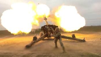 Вчера нашей артиллерией были уничтожены две гаубицы с расчетами