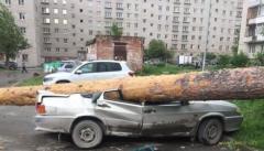 Ураган в Свердловской области вчера
