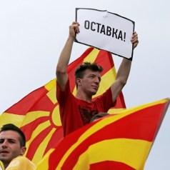 Тисячі македонців вийшли на антиурядову акцію в столиці Скоп'є з вимогою відставки прем'єр-міністра