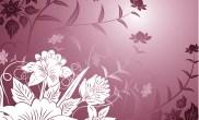 Vector-Beautiful-Flowers-on-Purple-Background
