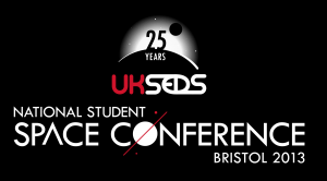 UKSEDS National Student Space Conference, Bristol 2013 logo.