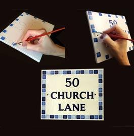 mosaic-address-signs