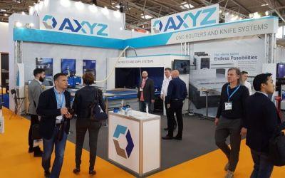 AXYZ Trident print finishing system shines at FESPA