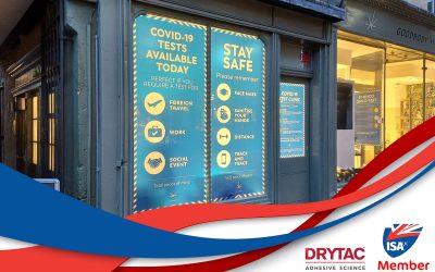 ISA-UK Member Drytac's ViziPrint Illuminate lights up new Covid-19 testing clinics