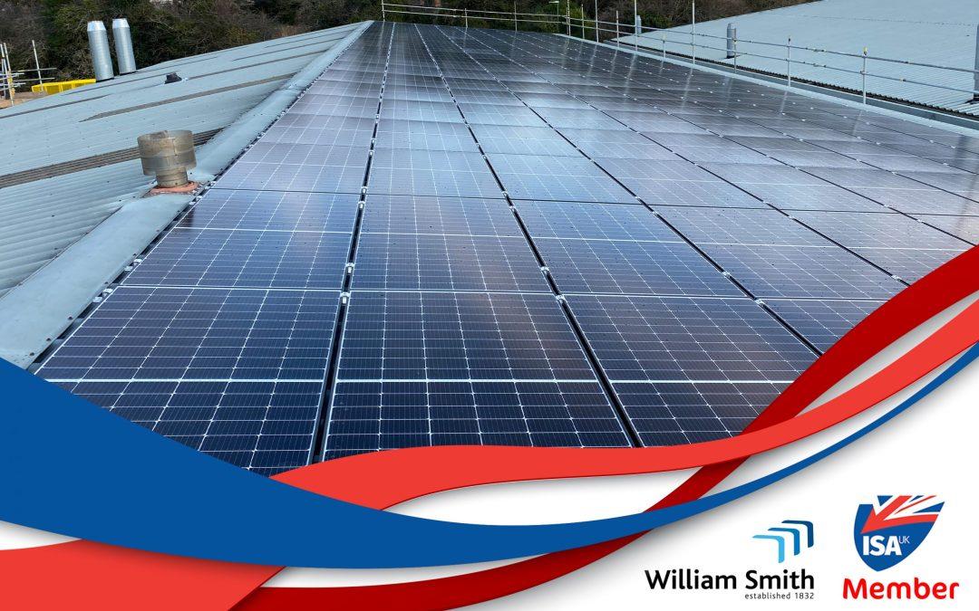 Solar power slashes energy costs for ISA-UK member William Smith