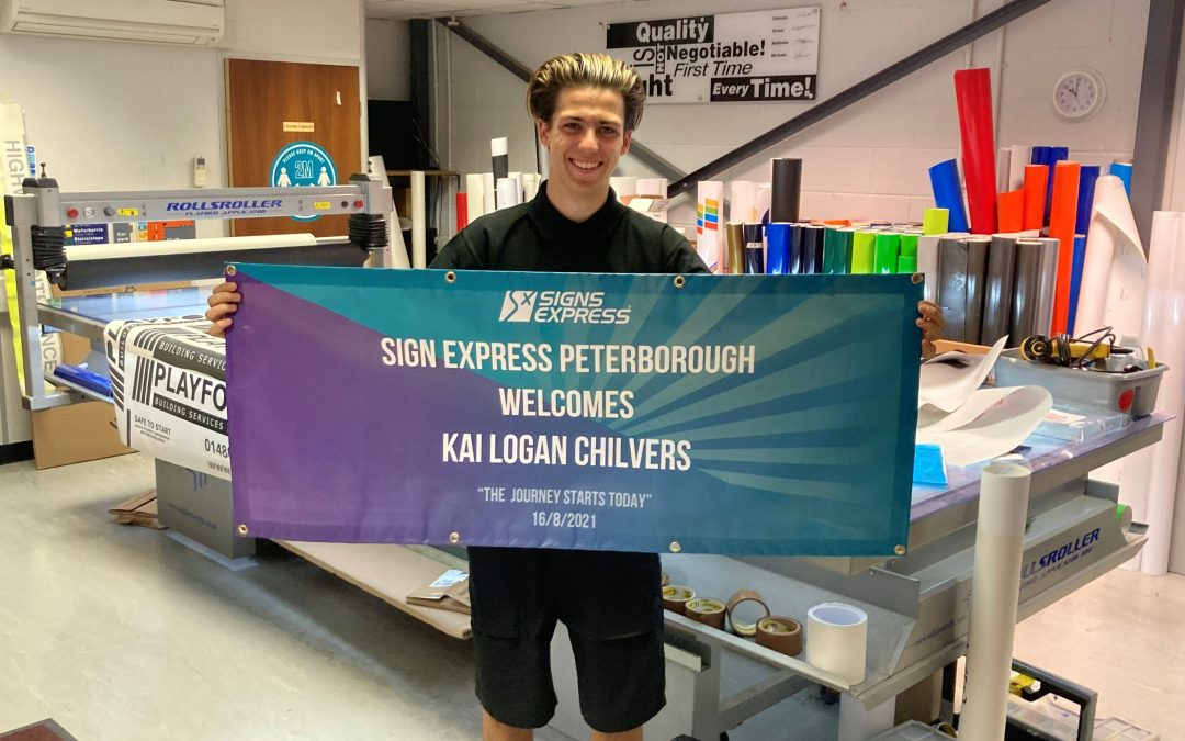 ISA-UK member Signs Express (Peterborough) invest in youth training and development