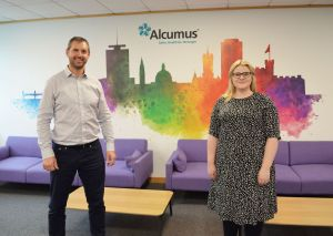 Local MP Alex Davies-Jones visits Cardiff-based safety and risk management company Alcumus
