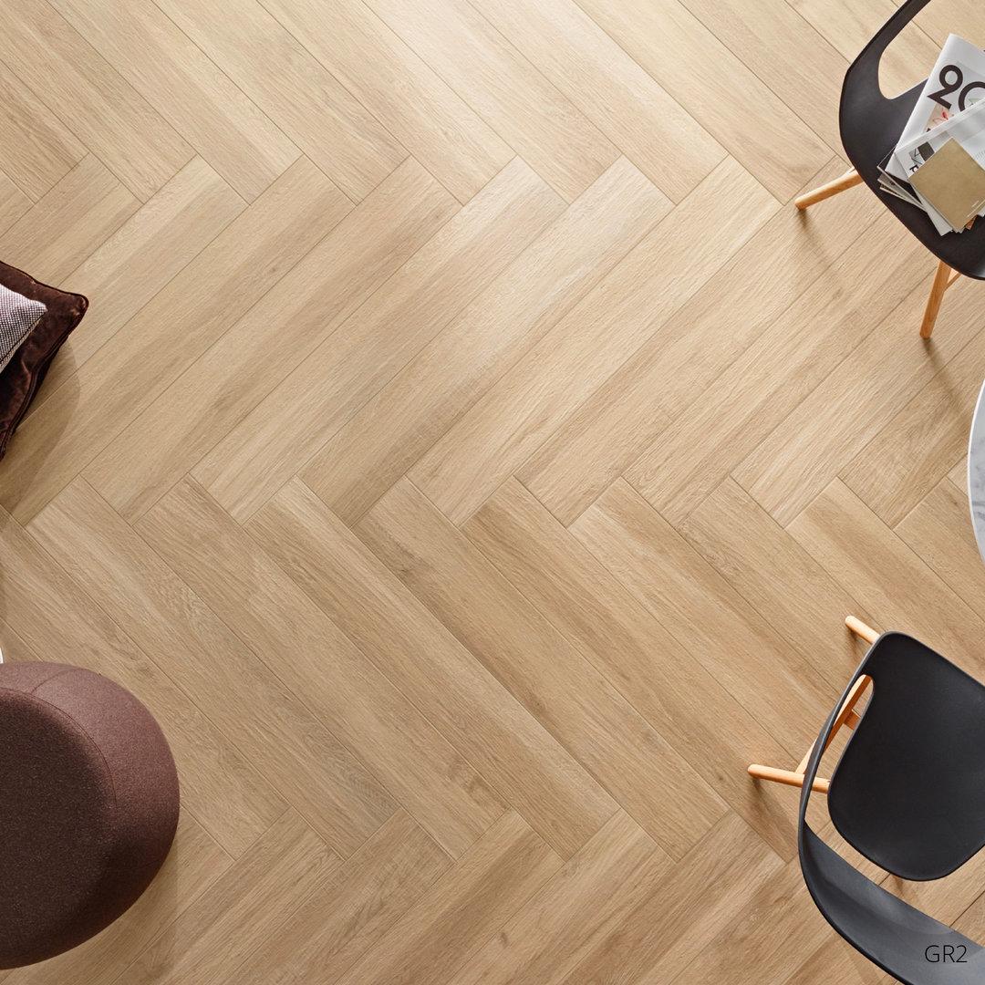 grove wood effect beige porcelain floor tiles