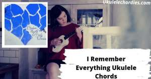 I Remember Everything Ukulele Chords By Brandi Carlile