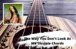 The Way You Don't Look At Me Ukulele Chords By Demi Lovato