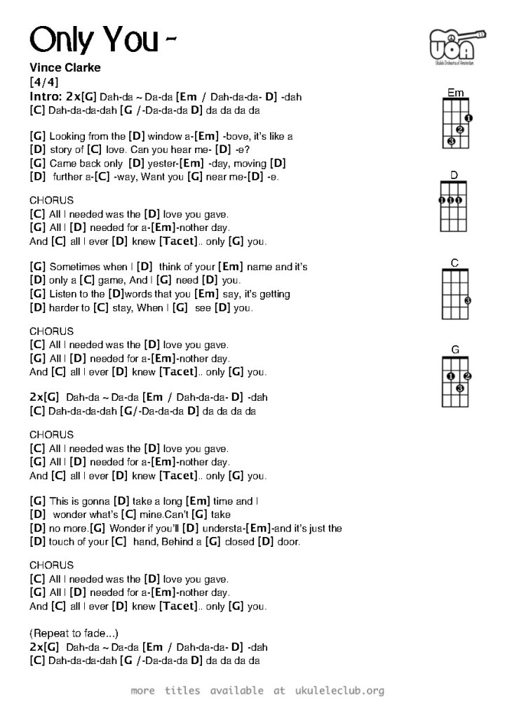 Old Fashioned Guitar Chords To Fix You Pattern - Basic Guitar Chords ...