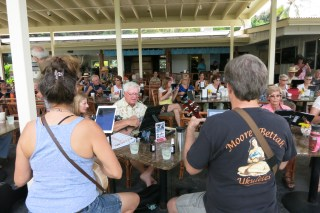 Sharing aloha, via ukulele, on Hawai'i Island
