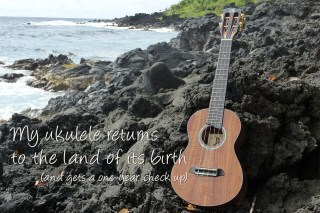 A first birthday visit for my ukulele