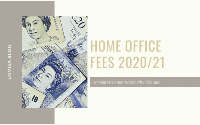 Home Office Fees 2020/21: Immigration and Nationality Charges