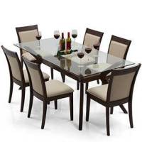 Wesley - Dalla 6 Seater Dining Table Set - Urban Ladder