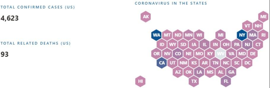 Mapping the Coronavirus Outbreak in the U.S. - Countable