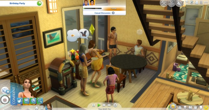 The Sims (videogioco): party in casa