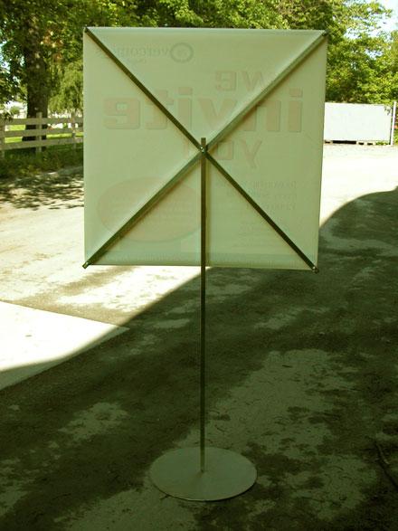 Bannerdisplay i aluminium