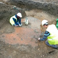 Archaeologists return to Roman mosaic site