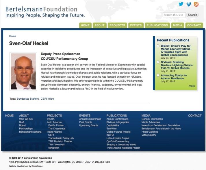 Sven Olaf Heckel - Bertelsman Stiftung