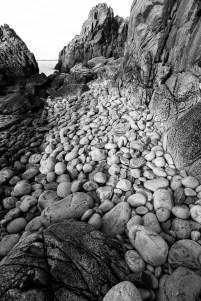 Stensamling vid Visitgrottan