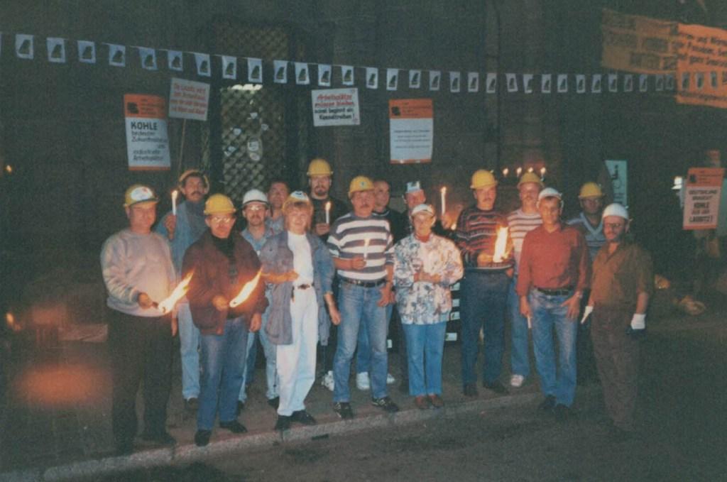 Mahnwache der IG BE am 5. Oktober 1993 in Potsdam (Foto: Erich Schutt)