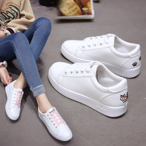 Best selling cheaper ladies spring Korean casual flat small white shoes