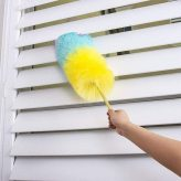 Electrostatic Adsorption Microfiber Hand Duster Soft Microfiber Dusting Brush Extend Stretch Feather Duster Air-condition