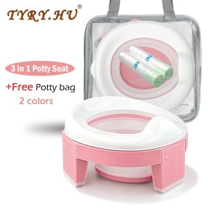 Baby Portable Toilet Potty Training Seat Multifunctional Kids Potty Chair 3 in 1 Toddler Toilet Training Seats Toilet Potty