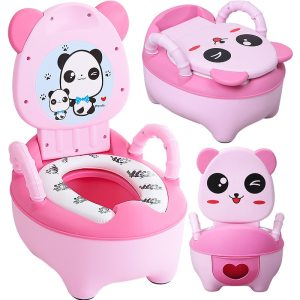 0-7 Years Old Children's Pot Soft Baby Potty Plastic Road Pot Infant Cute Baby Toilet Seat Boys And Girls Potty Trainer Seat WC