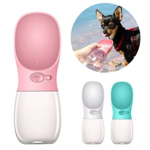 Portable Water Bottle Dog Slow Feeder Water Bottle For Dogs Waterers Dog Cat Water Filter Pet Dog Water Feeders