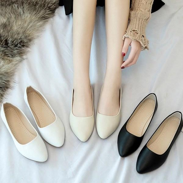 Women Flats Slip Shoes Ballet Wedding Shoes