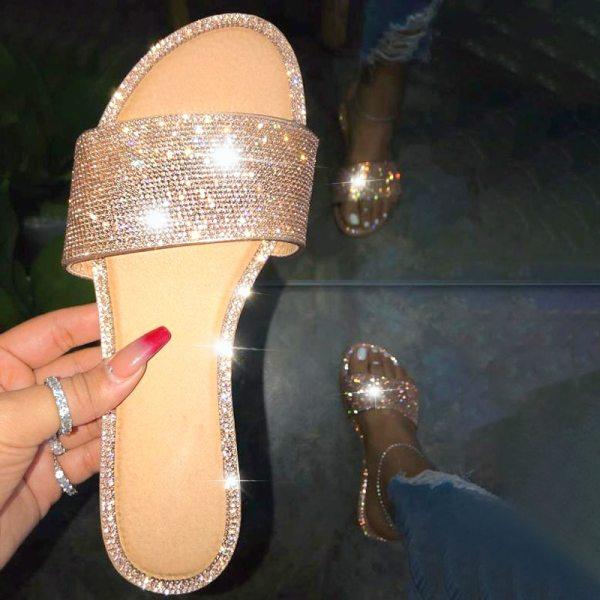 Black Slippers Women Sandals