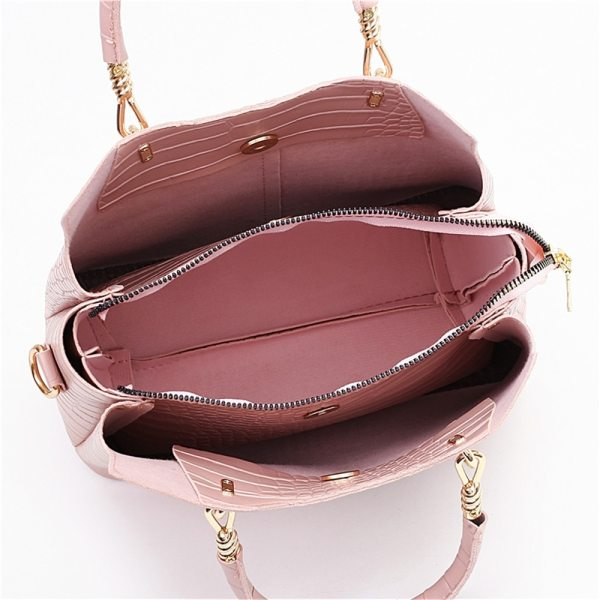 Alligator 3-piece Set Composite Women Hand Bag