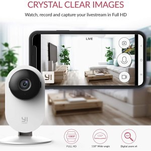 YI 2pc 1080P Home Camera Indoor Security IP Camera with Night Vision Motion Detection Two Way Audio Home Security Surveillance System for Home/office/Pet/Remote Monitor