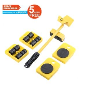 """Furniture Lifter with 4 Pack 3.9""""x3.15"""" Furniture Slider, Mover Transport set Heavy Furniture Roller Move Tools"""
