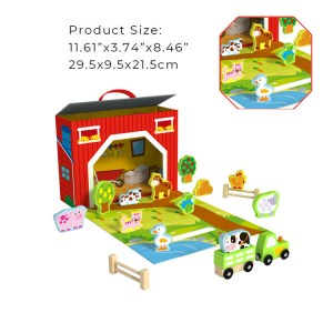High Quality New Design Wooden Play Farm Box Toy For Kids
