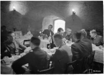 Breakfast for foreign reporters just before the war broke out, in Viipuri's Round Tower
