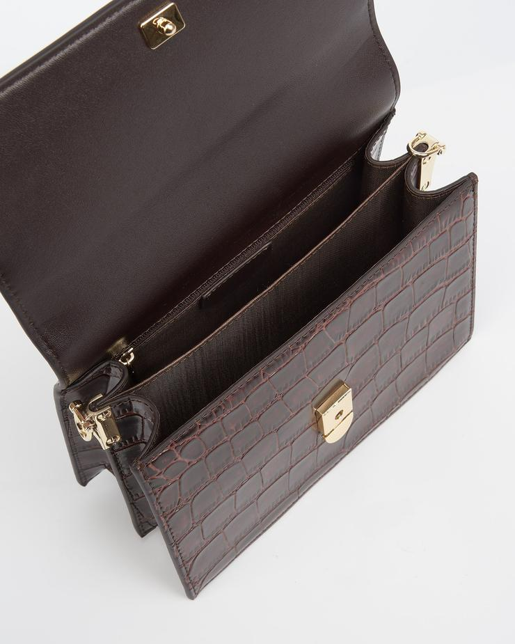 ullrichstore.com jw pei mini flap bag Brown-Croc-top.jpg