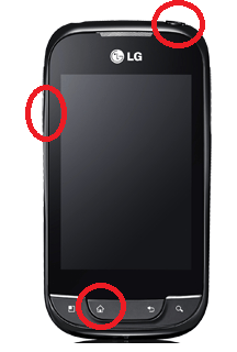 How to hard reset Android LG P690, when touch is failed.