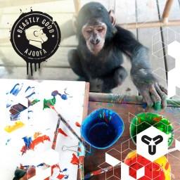 """Affen als Designer? Gibt es! """"smile""""-Emoticon Bei ajoofa werden aus Affen-Kunstwerken Shirts! Und mit jedem Kauf unterstützt man den Natur- und Tierschutz. Sehr schönes Projekt! Die Ware wird geliefert, kann aber auch in Ulm abgeholt werden. Und passend zum Herbst, ist gerade die neue Kollektion mit Sweater und Hoodies online. Worauf wartet ihr noch? www.ajoofa.com"""