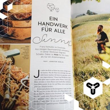 Einer unserer ersten geposteten Designer, Franz Keilhofer, im aktuellen ma vie-Magazin! Ein sehr schööönes Portrait ist das! :)