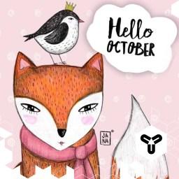HELLO OCTOBER! <3 Stunden auf dem Sofa, Tassen Tee, Spaziergänge im Herbstlaub, Zeitschriften blättern, basteln & handwerken,... HALLO HERBST! <3 Danke an diese wunderhübsche Illustration von Jana Fak! http://shop.janafak.com