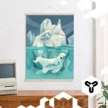 """Hallo, neue Woche! Hallo, Kleinwaren / von Laufenberg! Unser Produkt zum Start der Woche: Die """"Posterleiste Eiche"""" + Poster """"Swimming Polar Bear"""", die unseren Arbeitsplatz und unser Wohnzimmer um einiges hübscher machen! www.kleinwaren-von-laufenberg.de"""